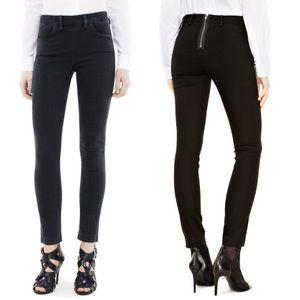 NWOT Acne Studios Skin Lacey Black Jeans Back Zip